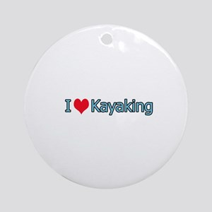 I Heart Kayaking Logo Ornament (Round)
