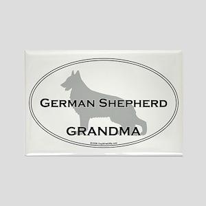Grm Shepherd GRANDMA Rectangle Magnet