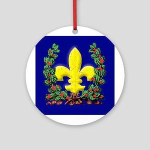 Brilliant Christmas Fleur de Lis Porcelain Ornamen