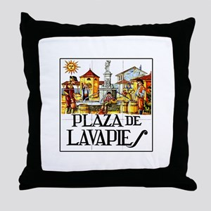 Plaza de Lavapiés, Madrid - Spain Throw Pillow