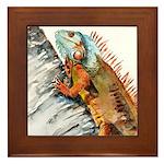 Iguana 2 Framed Tile