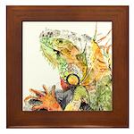Iguana #3 Framed Tile