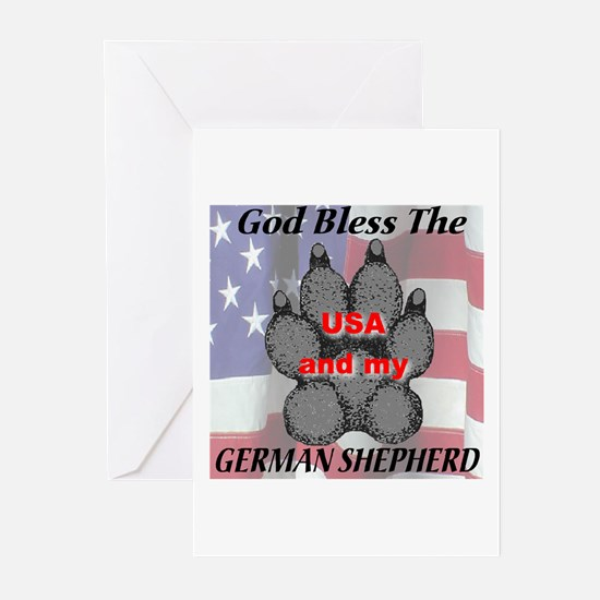 God bless the USA and my Germ Greeting Cards (Pack