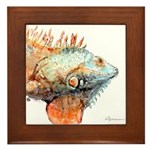 Iguana Framed Tile