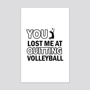 Quirky Volleyball designs Mini Poster Print