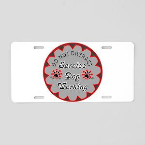 SERVICE DOG SHOP Aluminum License Plate