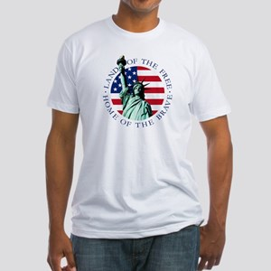 Liberty & American flag Fitted T-Shirt