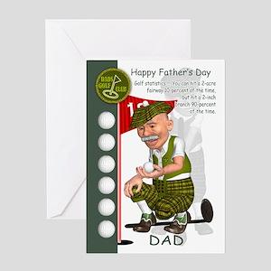 Golf Father's Day Greeting Card With Fun Cartoon G