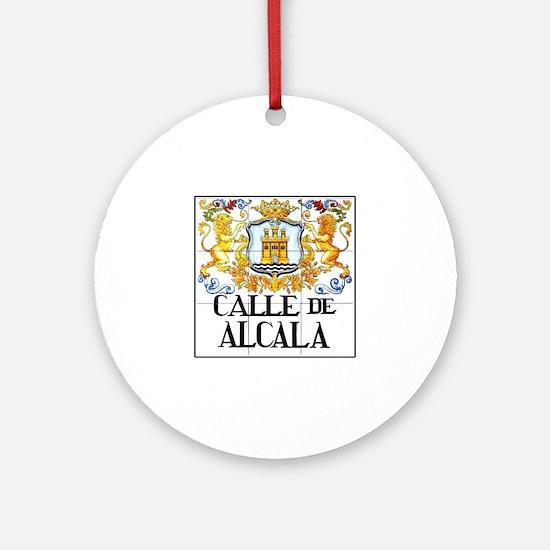 Calle de Alcalá, Madrid - Spain Ornament (Round)