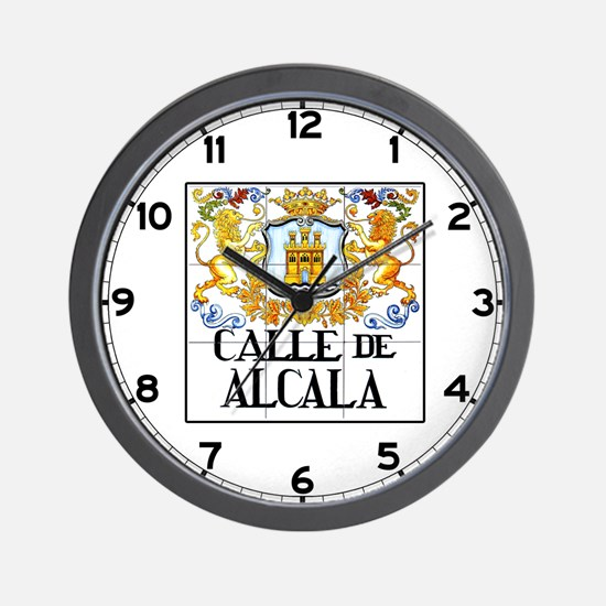 Calle de Alcalá, Madrid - Spain Wall Clock