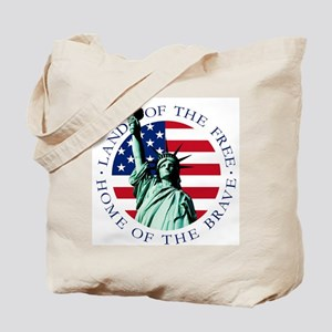 Liberty & American flag Tote Bag