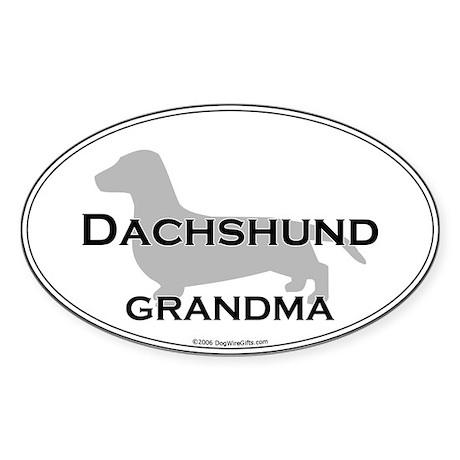 Dachshund GRANDMA Oval Sticker