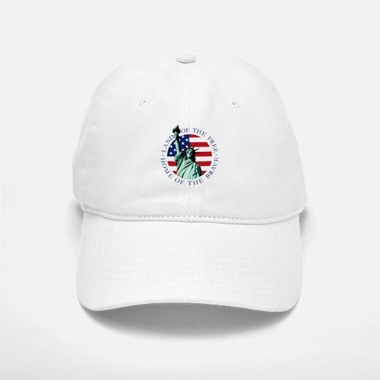 Liberty & American flag Baseball Baseball Cap