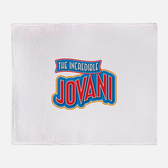 The Incredible Jovani Throw Blanket