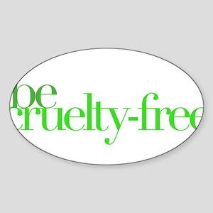 Be Cruelty-Free Oval Sticker (10 pk) Sticker