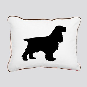 Cocker Spaniel Black Rectangular Canvas Pillow