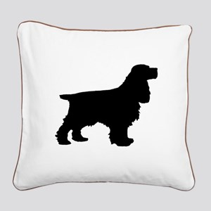 Cocker Spaniel Black Square Canvas Pillow