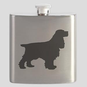 Cocker Spaniel Black Flask