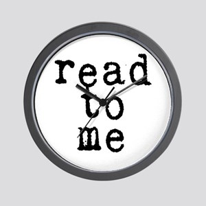 read to me 10x10 Wall Clock