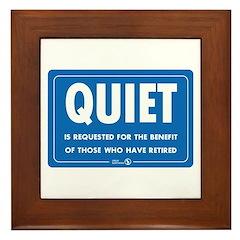 Quiet! Framed Tile