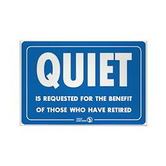 Quiet! Rectangle Magnet
