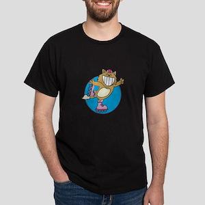 Kitty on Roller Skates Dark T-Shirt