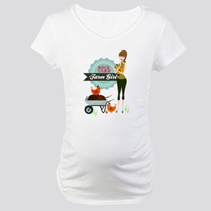 Backyard Farm Girl Maternity T-Shirt
