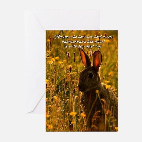 Pet Sympathy Card - Loss Of Pet Rabbit (Pk of 10)