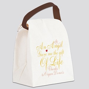 An Angel Gave Me The Gift Of Life Canvas Lunch Bag