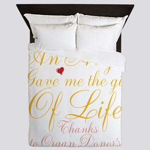 An Angel Gave Me The Gift Of Life Queen Duvet