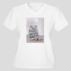 Sushi Cat- The Grump Plus Size T-Shirt