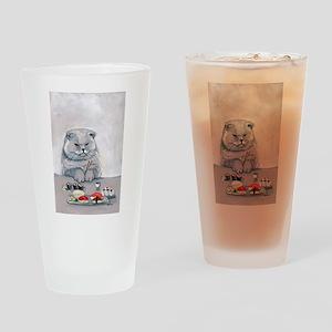 Sushi Cat- The Grump Drinking Glass