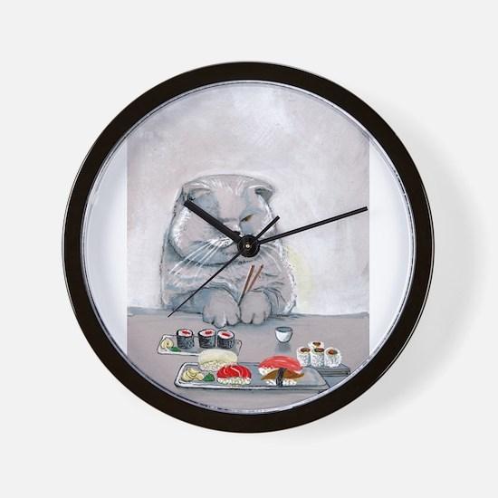 Sushi Cat- The Grump Wall Clock