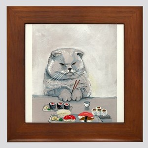 Sushi Cat- The Grump Framed Tile