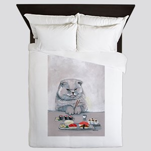 Sushi Cat- The Grump Queen Duvet
