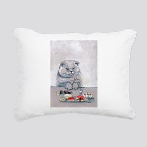 Sushi Cat- The Grump Rectangular Canvas Pillow