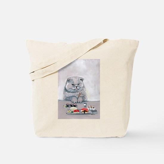 Sushi Cat- The Grump Tote Bag