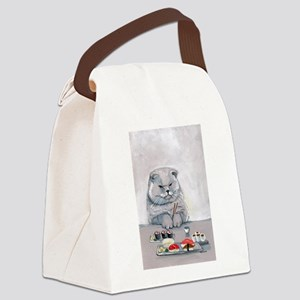 Sushi Cat- The Grump Canvas Lunch Bag