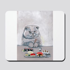 Sushi Cat- The Grump Mousepad