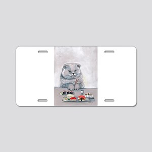 Sushi Cat- The Grump Aluminum License Plate