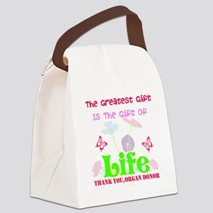 The Greatest Gift Canvas Lunch Bag