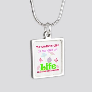 The Greatest Gift Silver Square Necklace