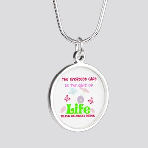 The Greatest Gift Silver Round Necklace