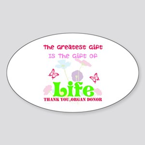 The Greatest Gift Sticker (Oval)