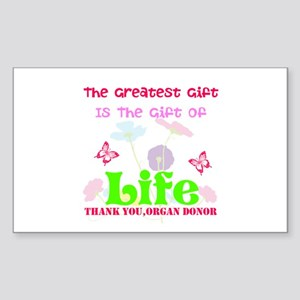 The Greatest Gift Sticker (Rectangle)