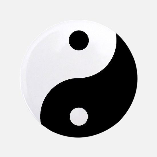 """Cute Yin yang 3.5"""" Button"""