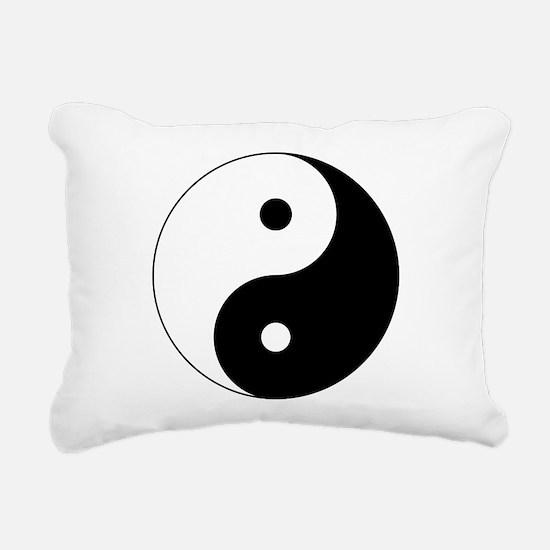 Unique Yin yang Rectangular Canvas Pillow