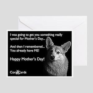 Corgi Mothers Day Greeting Card