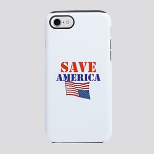 Save America, stop trump, iPhone 7 Tough Case