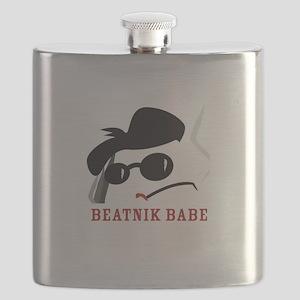 Beatnik Babe Flask